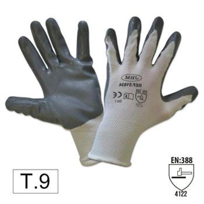 Védőkesztyű 9 nitril mártott