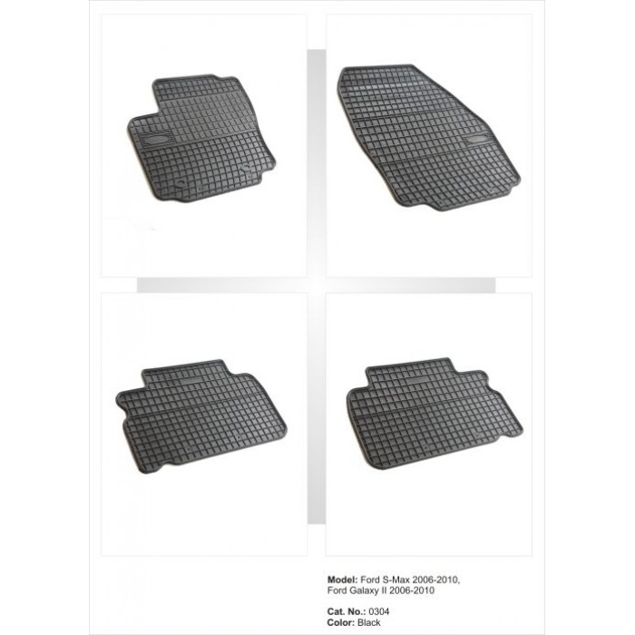 Ford Smax 2006-2010 méretpontos gumiszőnyeg garnitúra