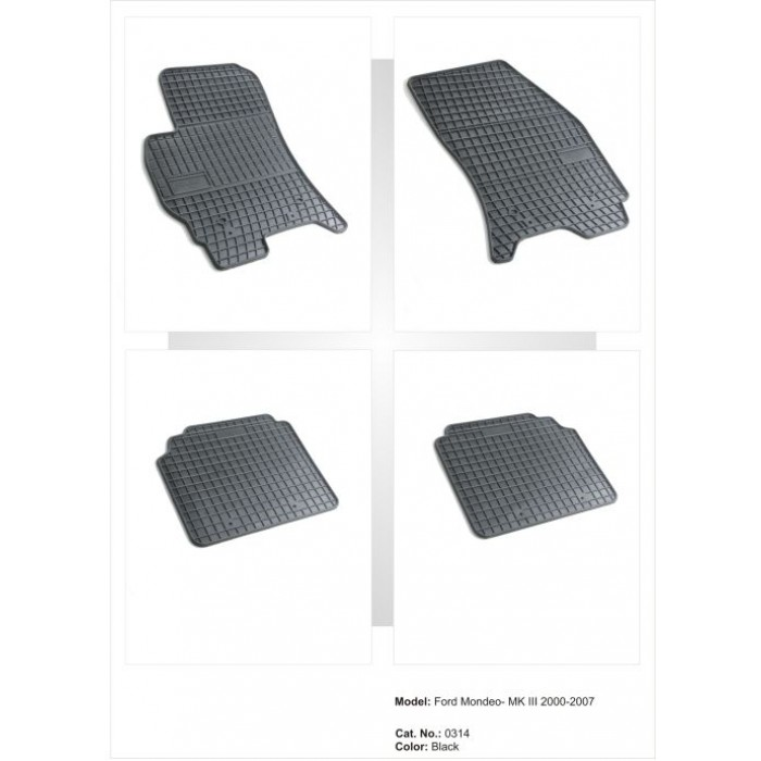 Ford Mondeo – MKIII  - 2000 - 2007  - méretpontos gumiszőnyeg garnitúra
