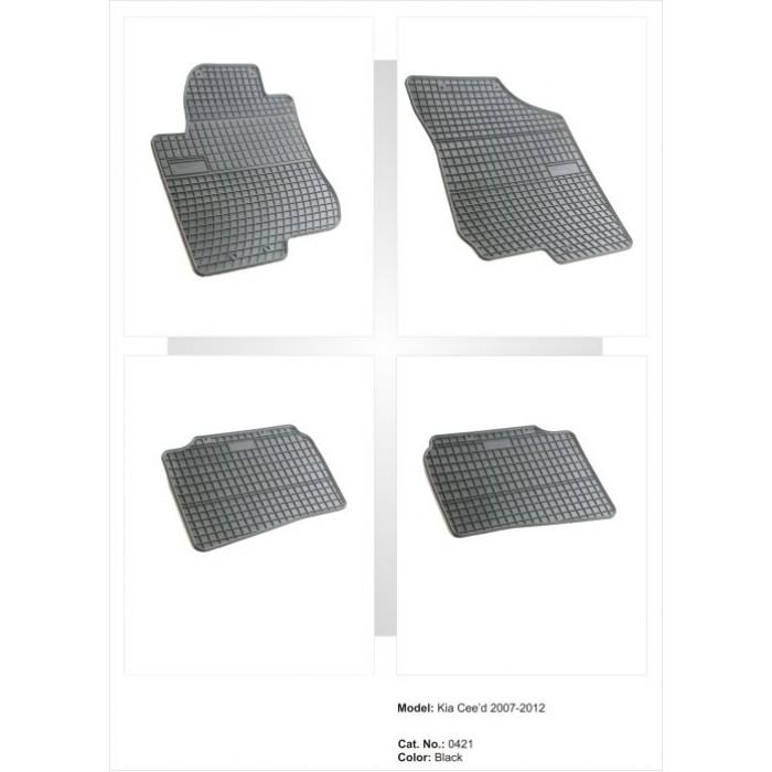 Kia Cee'd I  - 2007 - 2012  - méretpontos gumiszőnyeg garnitúra