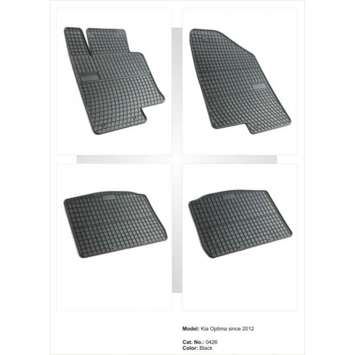 Kia Optima  - 2012 -  - méretpontos gumiszőnyeg garnitúra
