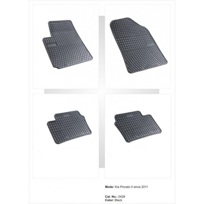 Kia Picanto II  - 2011 -  - méretpontos gumiszőnyeg garnitúra