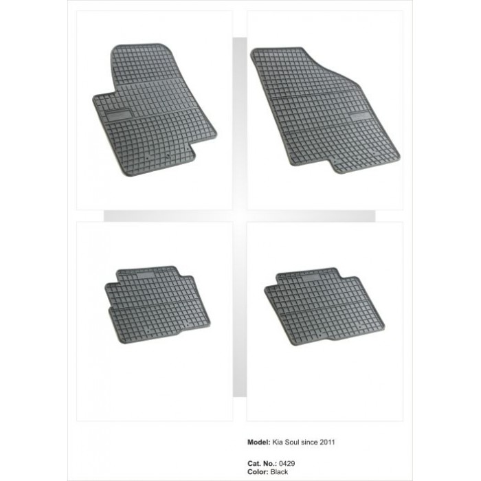Kia Soul  - 2009 - 2013  - méretpontos gumiszőnyeg garnitúra