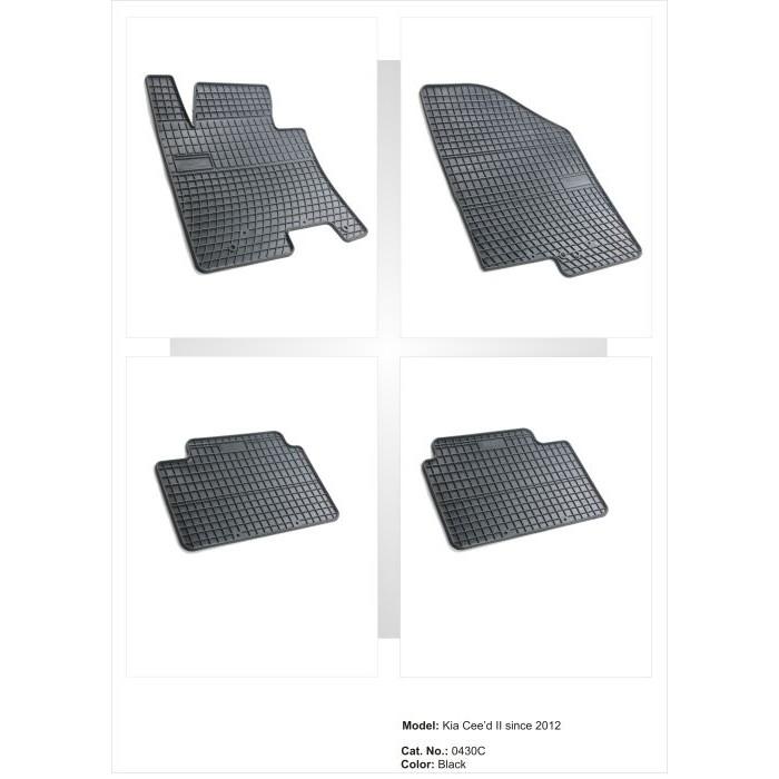 Kia Cee'd II  - 2012 -  - méretpontos gumiszőnyeg garnitúra