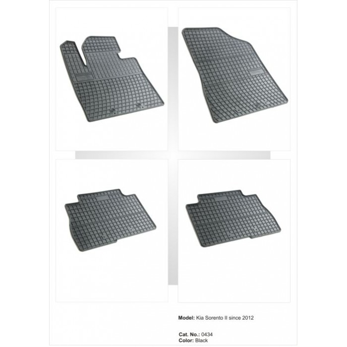 Kia Sorento III  - 2012 -  - méretpontos gumiszőnyeg garnitúra