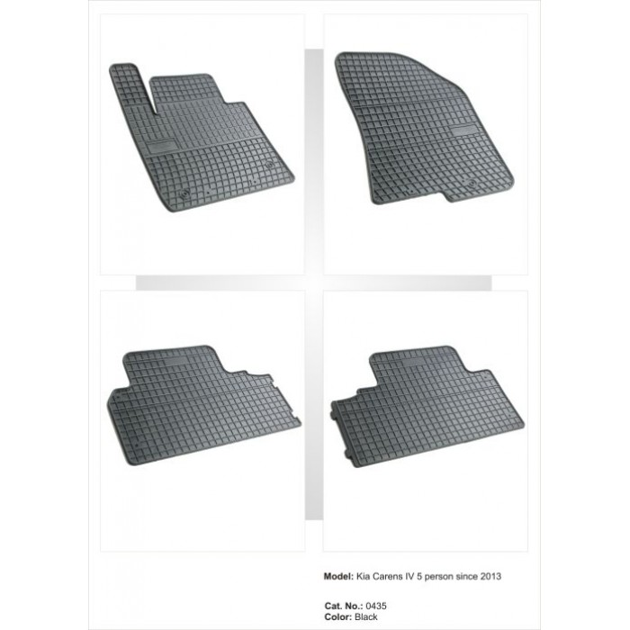 Kia Carens IV (4 db készlet)  - 2013 -  - méretpontos gumiszőnyeg garnitúra