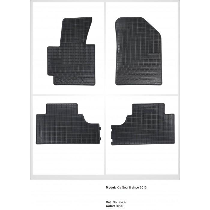 Kia Soul II  - 2013 -  - méretpontos gumiszőnyeg garnitúra