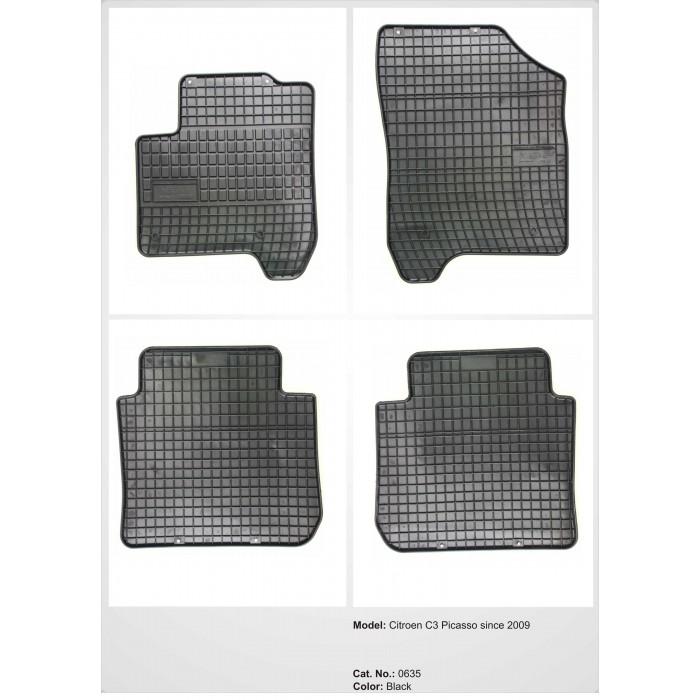 Citroen C3 Picasso  - 2009 -  - méretpontos gumiszőnyeg garnitúra