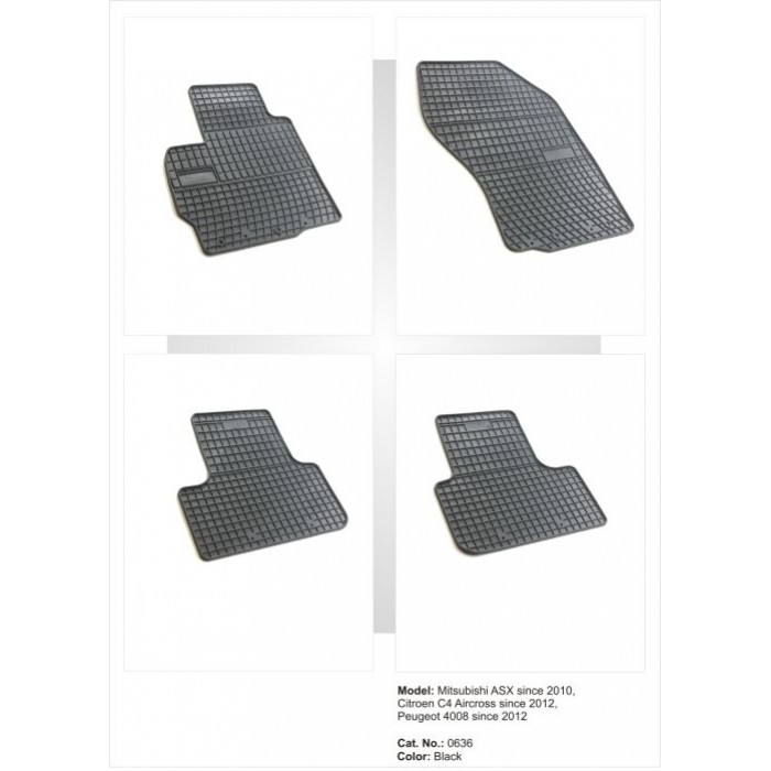 Citroen C4 Picasso I  - 2006 - 2013  - méretpontos gumiszőnyeg garnitúra