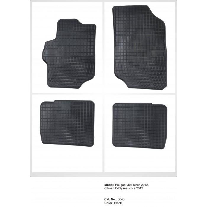 Citroen C-Elysée  - 2012 -  - méretpontos gumiszőnyeg garnitúra