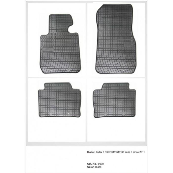 BMW F30 / F31 / F34 / F35 seria 3  - 2012 -  - méretpontos gumiszőnyeg garnitúra
