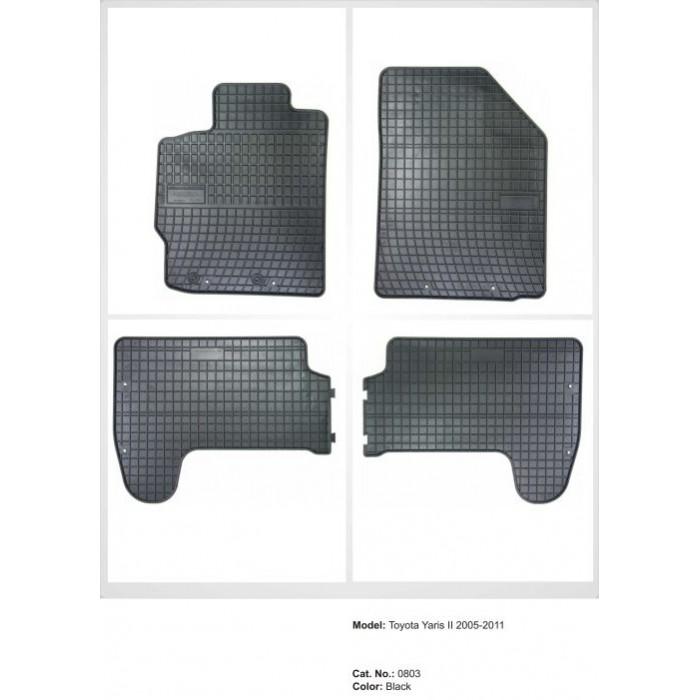 Toyota Yaris II  - 2006 - 2011  - méretpontos gumiszőnyeg garnitúra