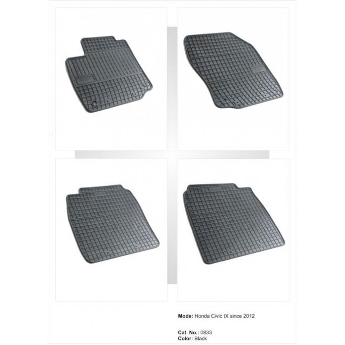 Honda Civic IX 3 / 5 ajtós Hatchback  - 2012 -  - méretpontos gumiszőnyeg garnitúra