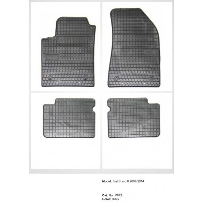 Fiat Bravo II  - 2007 - 2014  - méretpontos gumiszőnyeg garnitúra