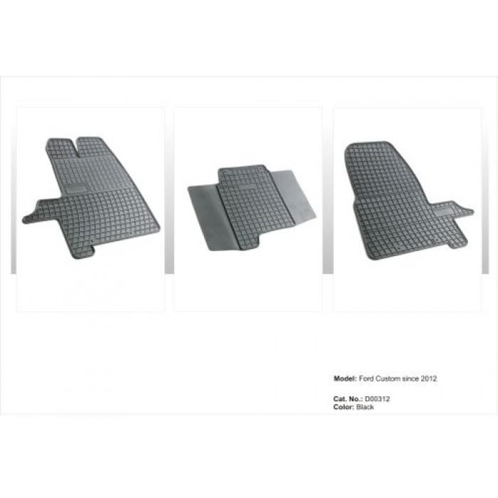 Ford Custom  - 2012 -  - méretpontos gumiszőnyeg garnitúra