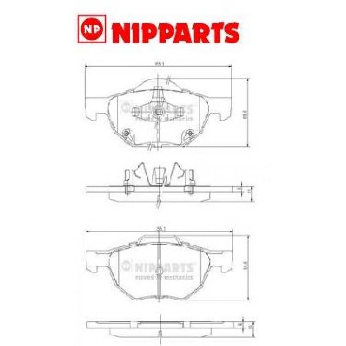 Accord VII Nipparts első fékbetet