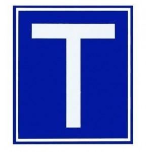 Mágneses T betű autóra